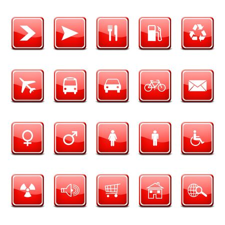 glossy web icons photo