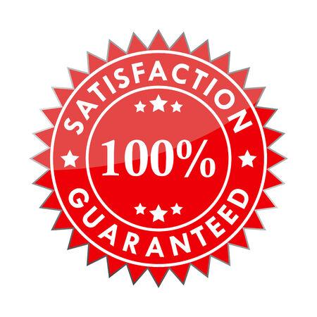 guaranteed: 100% satisfaction guaranteed label Illustration