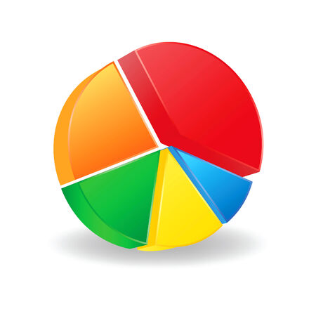 statistical: colorful pie chart