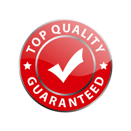 guaranteed: top quality guaranteed label (vector)