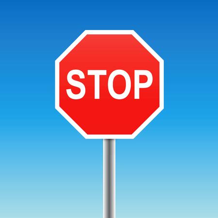 stop sign (vector) Vector