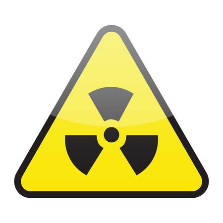 radioactive sign (vector) Illustration