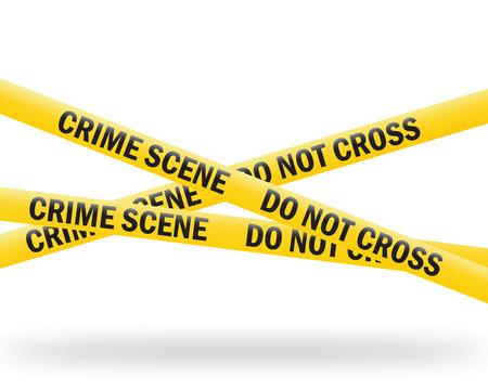cintas: cinta de escena de crimen Vectores