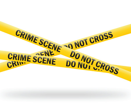 investigating: crime scene tape