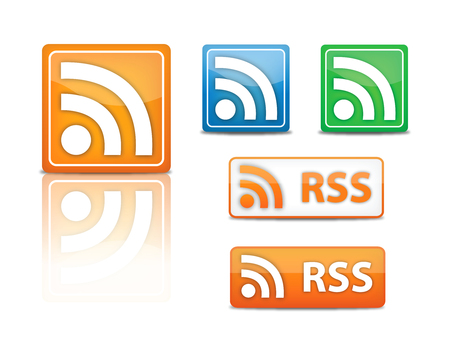 rss feed icons  Stock Vector - 6448560
