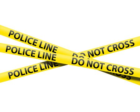 police tape: police line tape Stock Photo