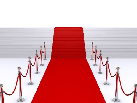 red carpet and stairs photo