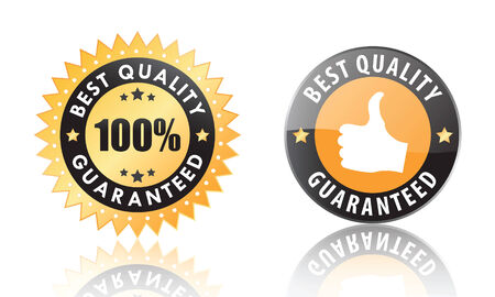 best quality guaranteed labels (vector)