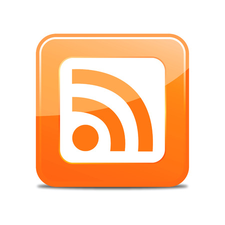 rss feed icon: rss feed icon (vector) Illustration