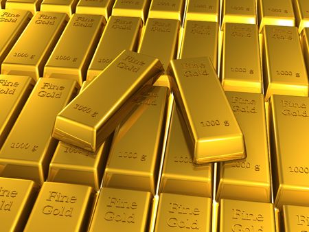 gold bars (3d render) Stock Photo - 6551250