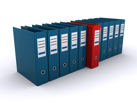 folder with documents: office files