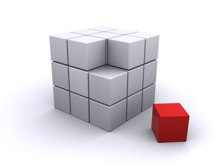 cube puzzle: abstract cube Stock Photo