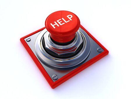 segítség: súgógombra Stock fotó