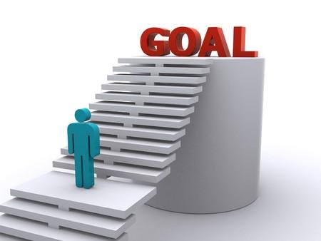 reaching the goal Stock Photo - 7370497