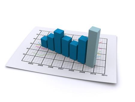 business graph 3d photo