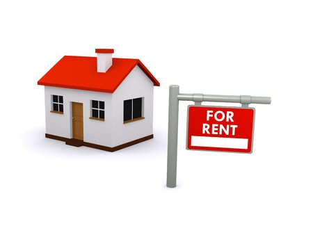 landlord: house for rent Stock Photo