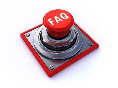 faq button Stock Photo - 7558963