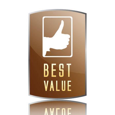 valor: mejor etiqueta de valor  Vectores
