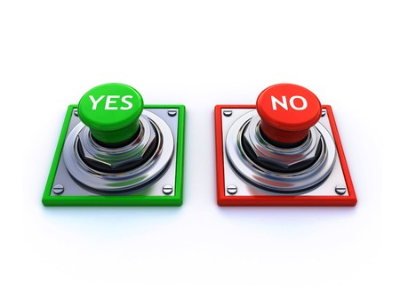 yes and no buttons Stock Photo
