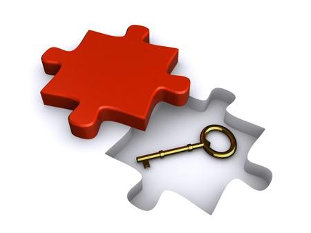 der Schlüssel zur Lösung  Lizenzfreie Bilder