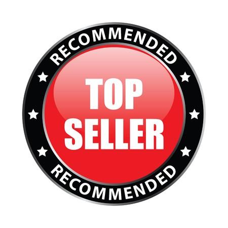 best seller: top seller label Stock Photo