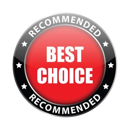 best choice label  Stock Photo