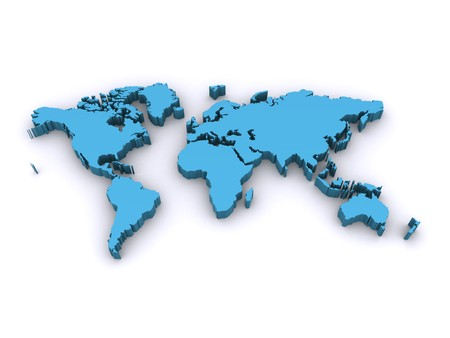 world map 3d Standard-Bild