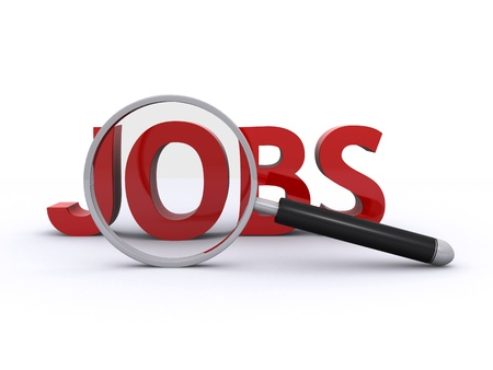internet search: searching for jobs Stock Photo