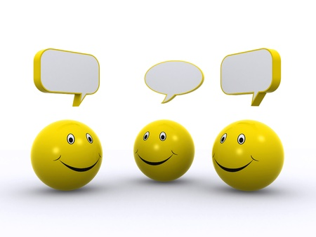 smiley chat 3d Stock Photo