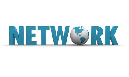 network 3d text photo