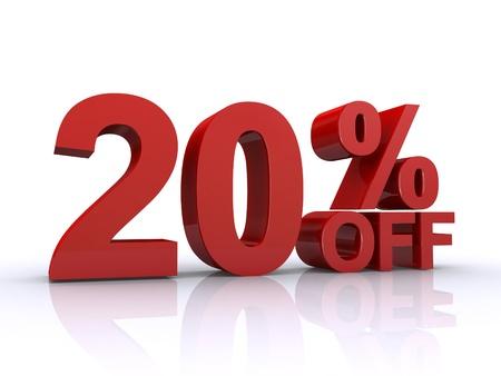 20 Prozent von Rabatt Lizenzfreie Bilder