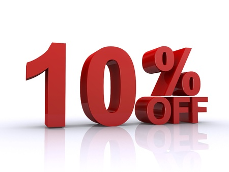 10 Prozent von Rabatt Lizenzfreie Bilder