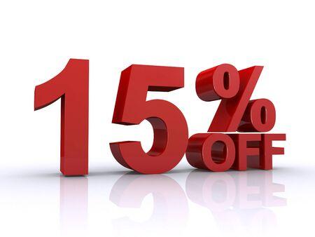 15 % von Rabatt