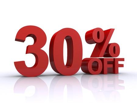 thirty percent off: 30 percent off discount
