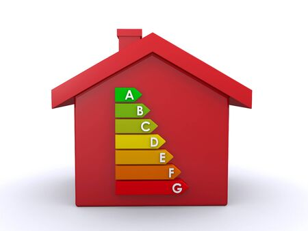 classify: house and energy rating chart Stock Photo