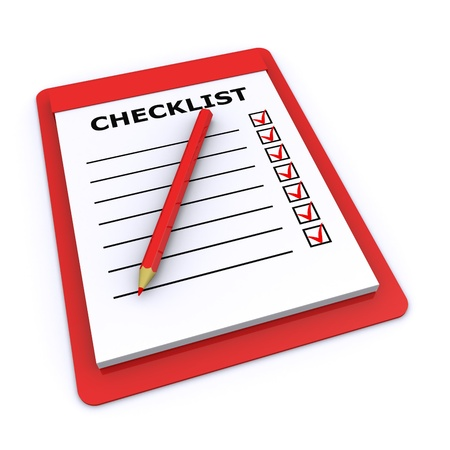 checklist 3d Stock Photo - 9111876