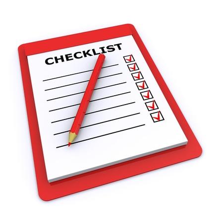 Checkliste 3d