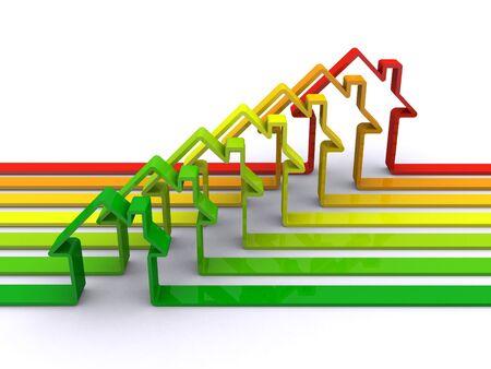 eficiencia energetica: concepto de eficiencia de energ�a Foto de archivo