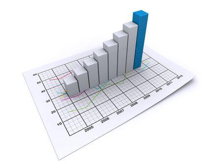 business graph Standard-Bild