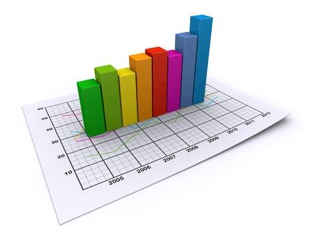 statistique: graphe color� business