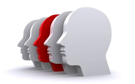 different: human heads Stock Photo