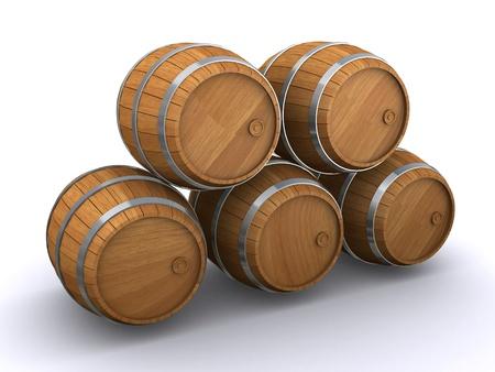 Holzfässern