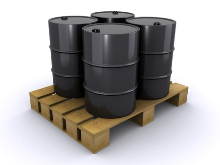 barrels on a wooden pallet