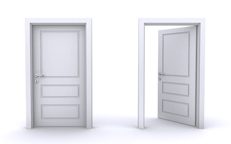 open and closed doors Stock Photo - 9815177