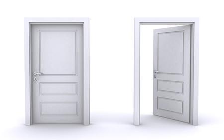 puertas abiertas y cerradas