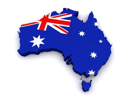 3D-Karte von Australien Lizenzfreie Bilder