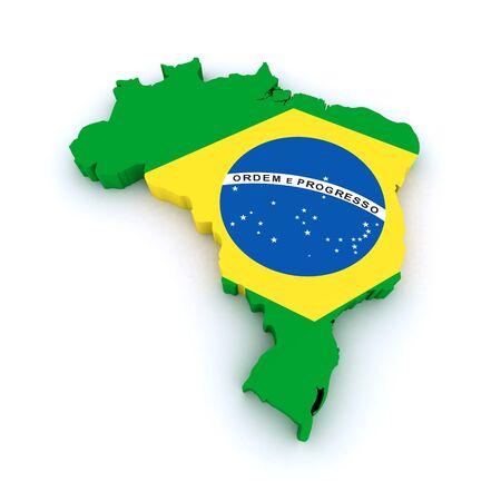 3d map of Brazil