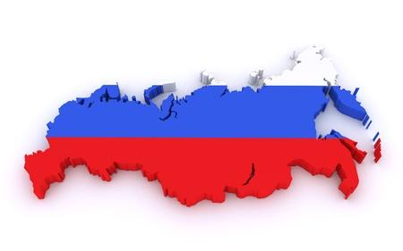 the 3d: 3d mapa de Rusia Foto de archivo