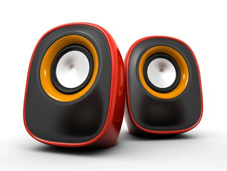 audio speaker: speakers Stock Photo