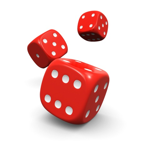 gamblers: dice roll Stock Photo